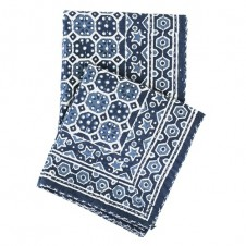 pine cone hill resist octagon indigo throw