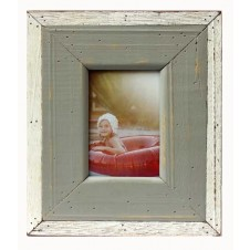 gray & white plain boatwood frame