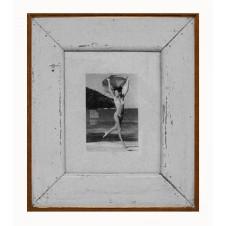 plain white boatwood frame
