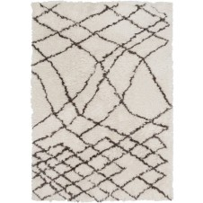 surya scout area rug, gray and taupe