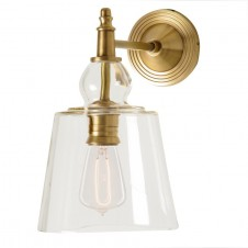 barbara cosgrove antique brass glass shade sconce