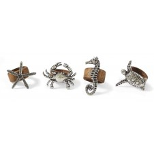 mud pie sea life wood napkin rings set of 4