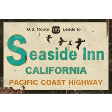 seaside inn customizable sign
