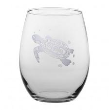 sea turtle stemless wine glass