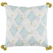 lacefield sedona mineral pillow with pom poms