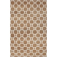 surya seaport set area rug, ivory and mocha