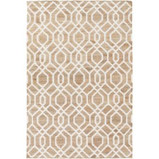 surya seaport set area rug, ivory and brown