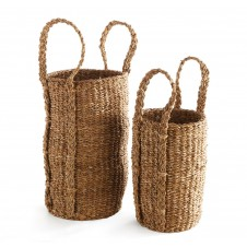 seagrass olive tree baskets, set of 2