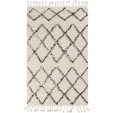 surya sherpa area rug, ivory and taupe