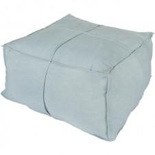 surya solid linen pouf