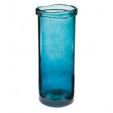 """cylinder vase 14"""" dark blue"""