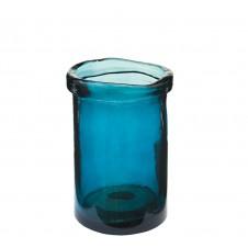 """cylinder vase 7.5"""" dark blue"""