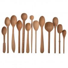 baker's dozen wood spoons, large set