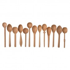 baker's dozen wood spoons, small set