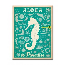 aloha to paradise customizable wood sign