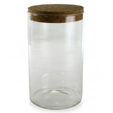 homart large stein glass jar with cork lid