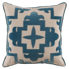 lacefield sultana applique glass velvet on heavy basket pillow