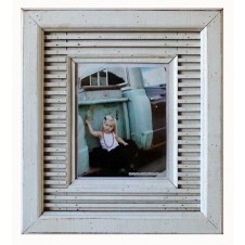 striped boatwood frame