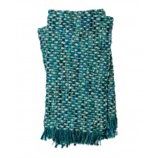 rosa blue & green throw blanket