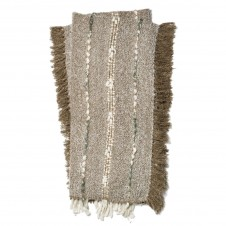 aida collection silver throw blanket