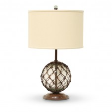 palecek glass float lamp