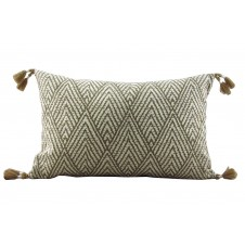 lacefield tahitian stitch tusk pillow with tassels