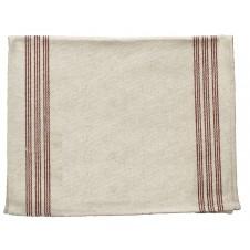 9 stripe red tea towel