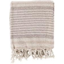 surya treasure ivory & gray throw blanket