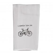 i wheelie like you flour sack towel