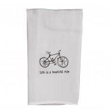 life is a beautiful ride flour sack towel