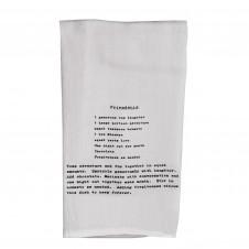 friendship recipe flour sack towel