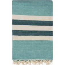 troy aqua throw blanket