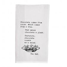 chocolate counts as a salad flour sack towel