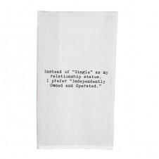 instead of single status flour sack towel