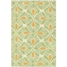 tropez collection ivory & green rug