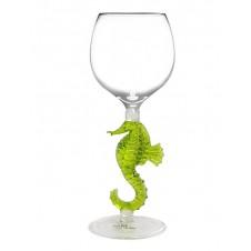 seahorse wine glass