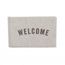 welcome linen guest book