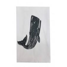 sperm whale flour sack towel