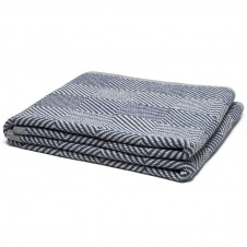 eco woven square throw blanket slate