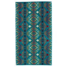 pendleton thunder & earthquake turquoise oversized jacquard towel