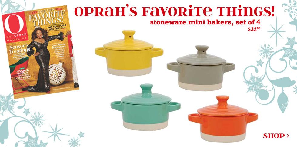 Stoneware mini-bakers seen on Oprah's Favorite Things