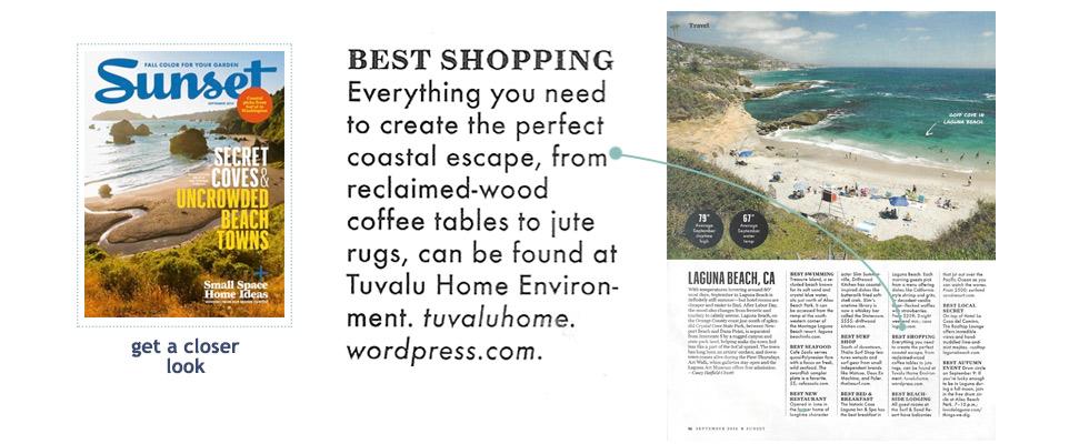 Tuvalu as seen in Sunset Magazine, September 2014