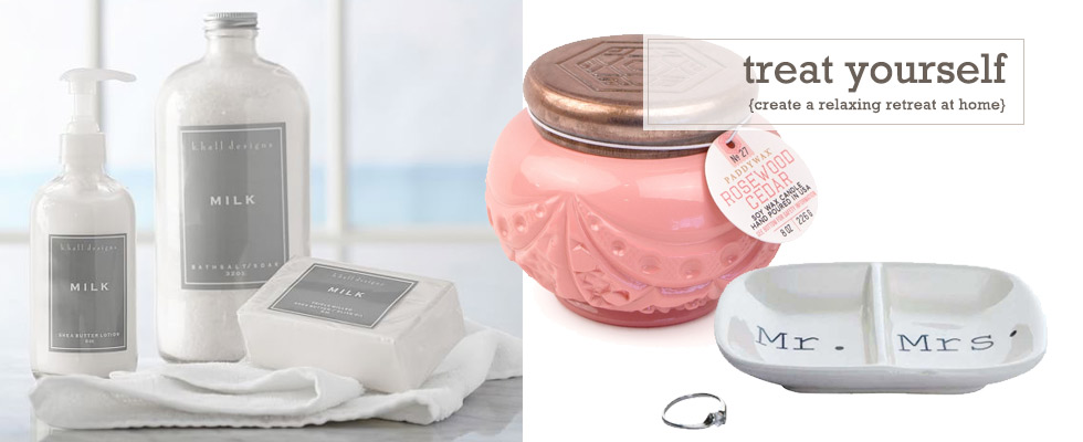 Create a relaxing retreat in your home with bath and body products