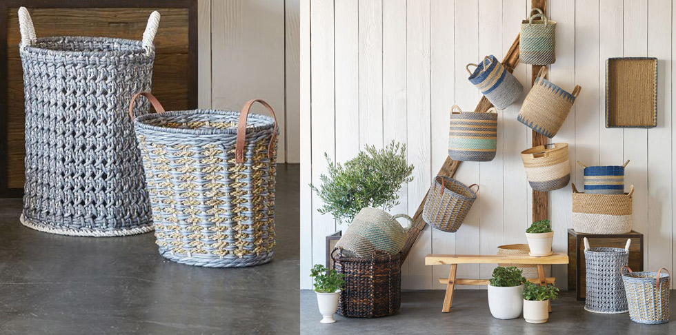 Shop baskets and storage