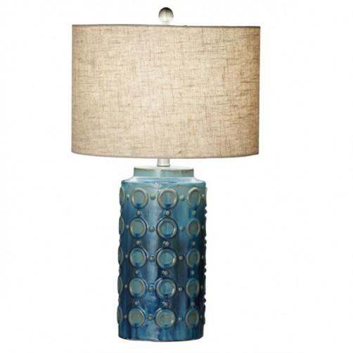 la marina blue glazed table lamp