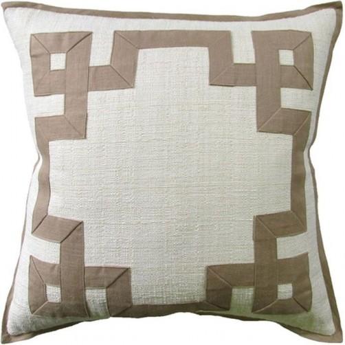 raffia cream fretwork pillow