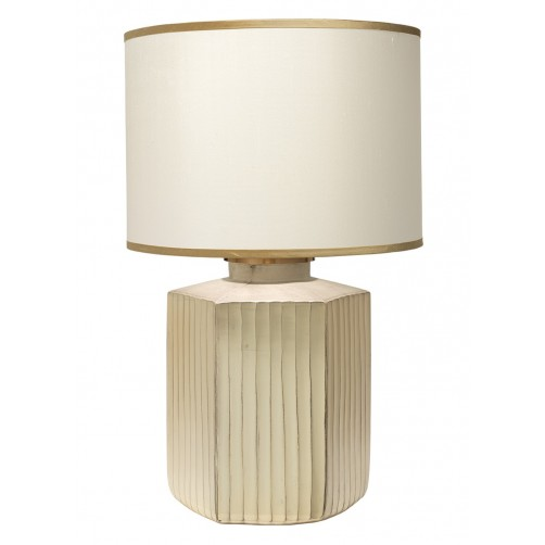 jamie young anderson gold frosted glass table lamp w/ large drum shade