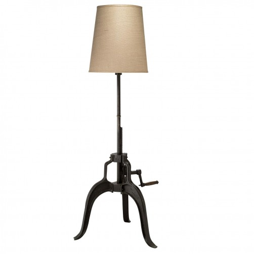 jamie young crank floor lamp w/ tall open cone shade