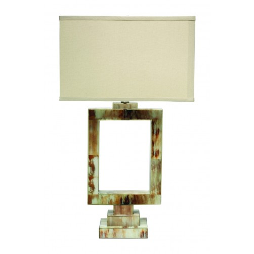 jamie young odeum table lamp w/ rectangle shade