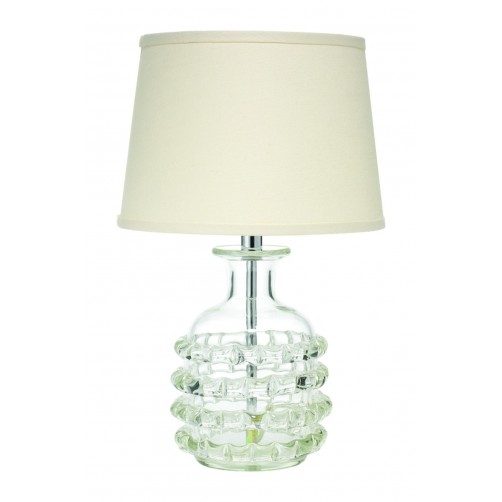 jamie young ribbon lamp w/ open cone shade